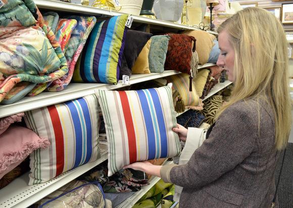 Striped preppy pillows