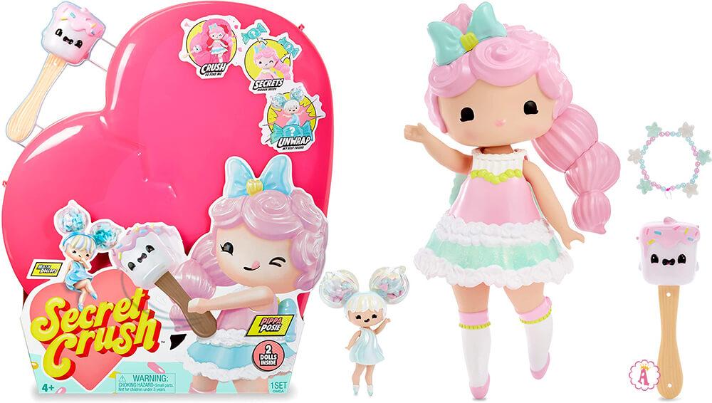 Кукла Secret Crush Pippa Posie в розовом сердечке с сахарным молотком