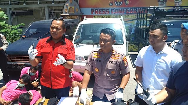 Polres Lotim Borong 5 Pelaku Pencuri Mobil, 4 Kena Timah Panas