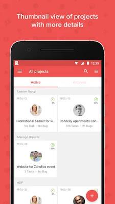 Screenshot Zoho Projects