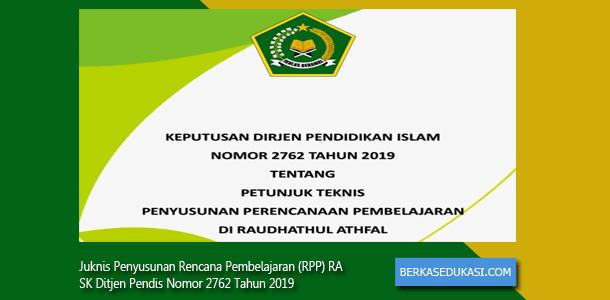 Juknis Penyusunan RPP RA SK Ditjen Pendis Nomor 2762 Tahun 2019