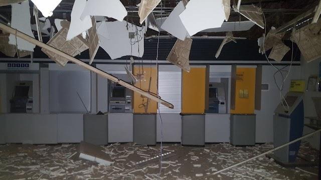 Quadrilha explode agências do Bradesco e Banco do Brasil, em Potengi