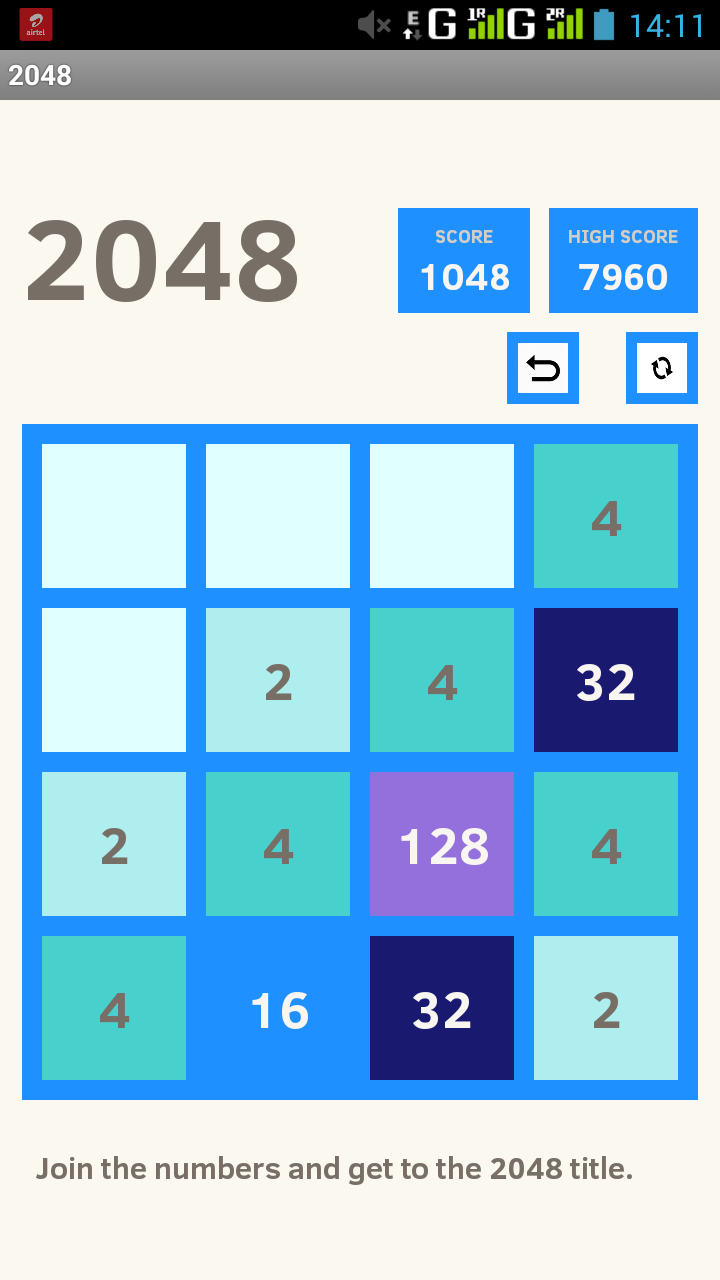 2048 Android Game Project | Lovelycoding org