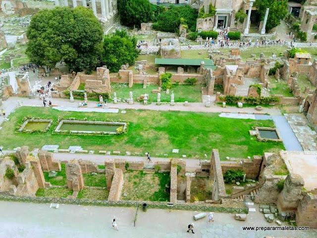 visitar los foros y palatino en Roma