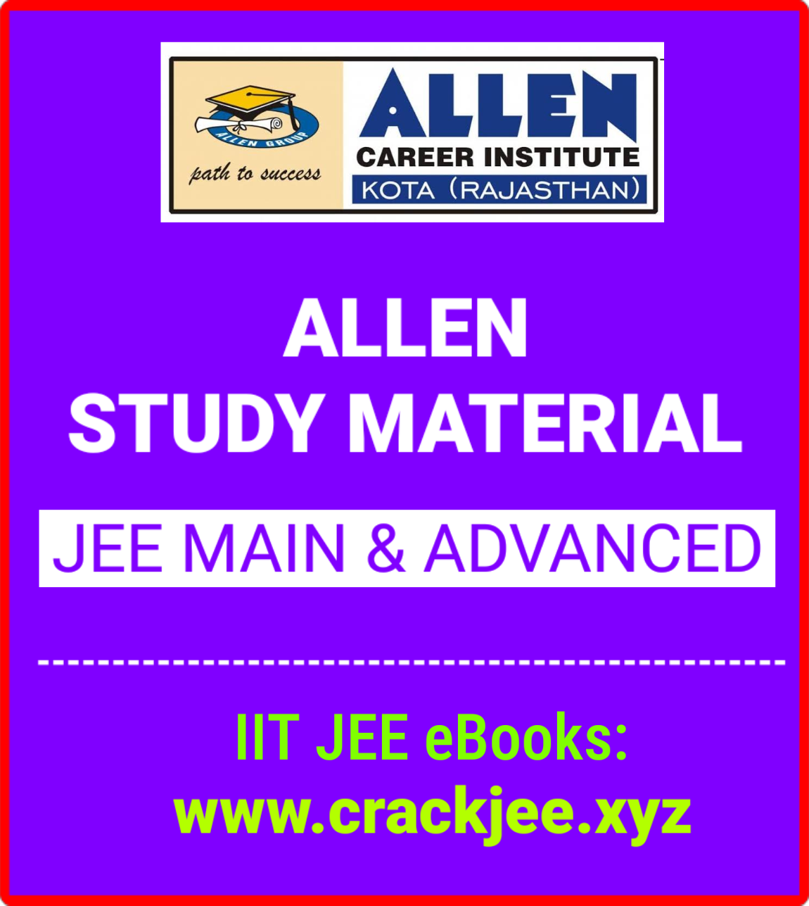 allen study material for iit jee free download