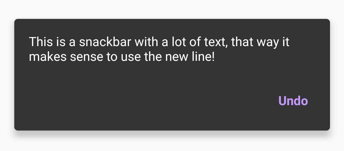 Snackbar using Jetpack Compose