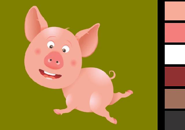 28. Gambar Mewarnai Hewan Babi