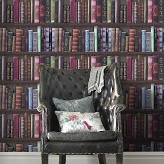 Graham & Brown Book Shelf Bookcase Library Wallpaper