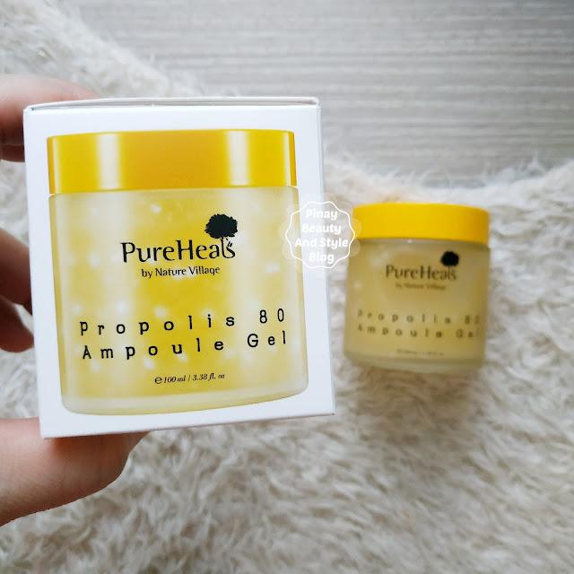 PureHeals Propolis 80 Ampoule Gel Review Hydrating Cream for Sensitive Skin