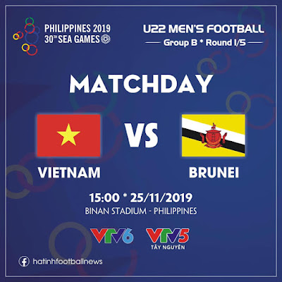 Live Streaming Vietnam vs Brunei (Sea Games) 25.11.2019
