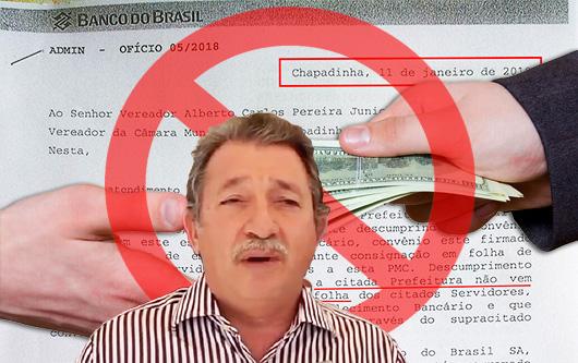 Prefeito de Chapadinha repassa ao BB parte do dinheiro do qual se apropriou