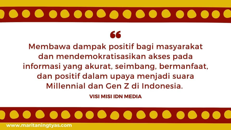 visi misi IDN Media