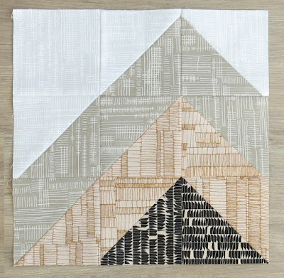 HST Quilt-Along - Block #5 - Mountain - Carolyn Friedlander's fabrics