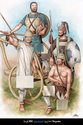 محاربون نوميديون 200 ق.م