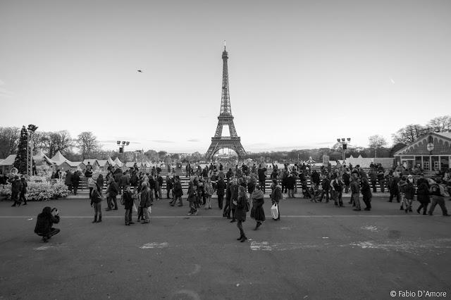Tour Eiffel e pista di pattinaggio sul ghiaccio-Parigi