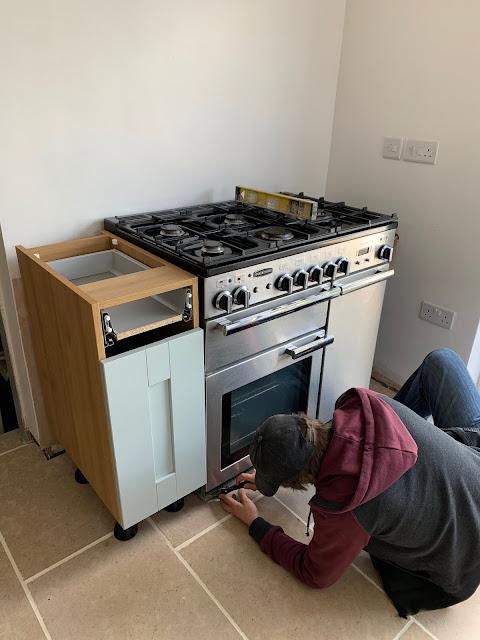 DIY kitchens cornflower blue