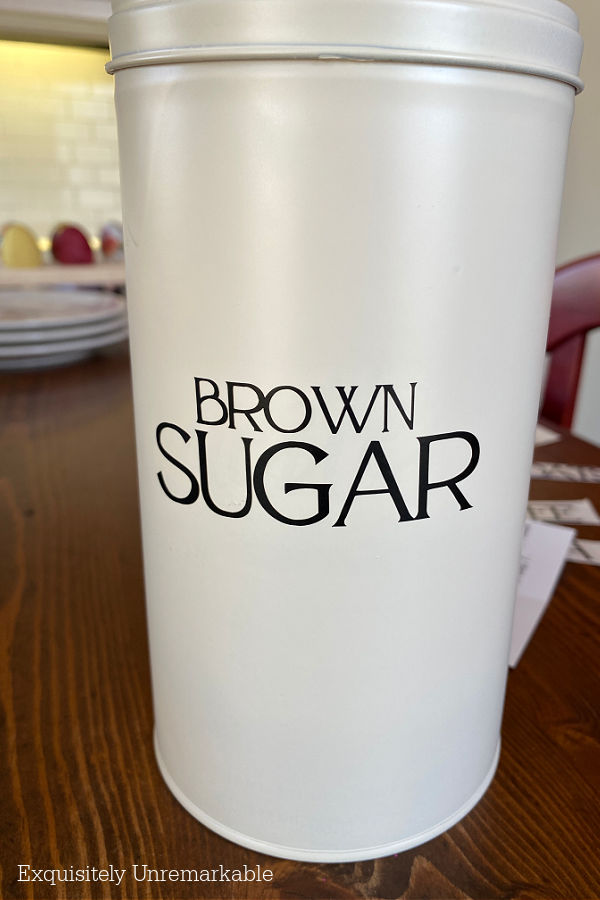 Brown Sugar Cookie Tin Upcycle