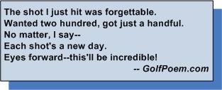golf poem forget bad shot