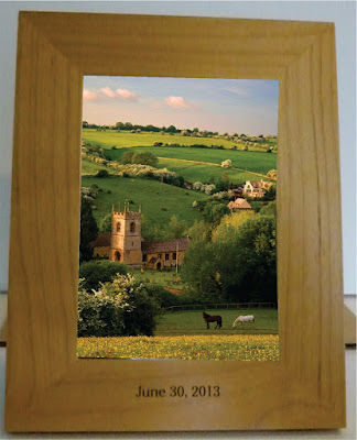Etched Wooden Photo Frame