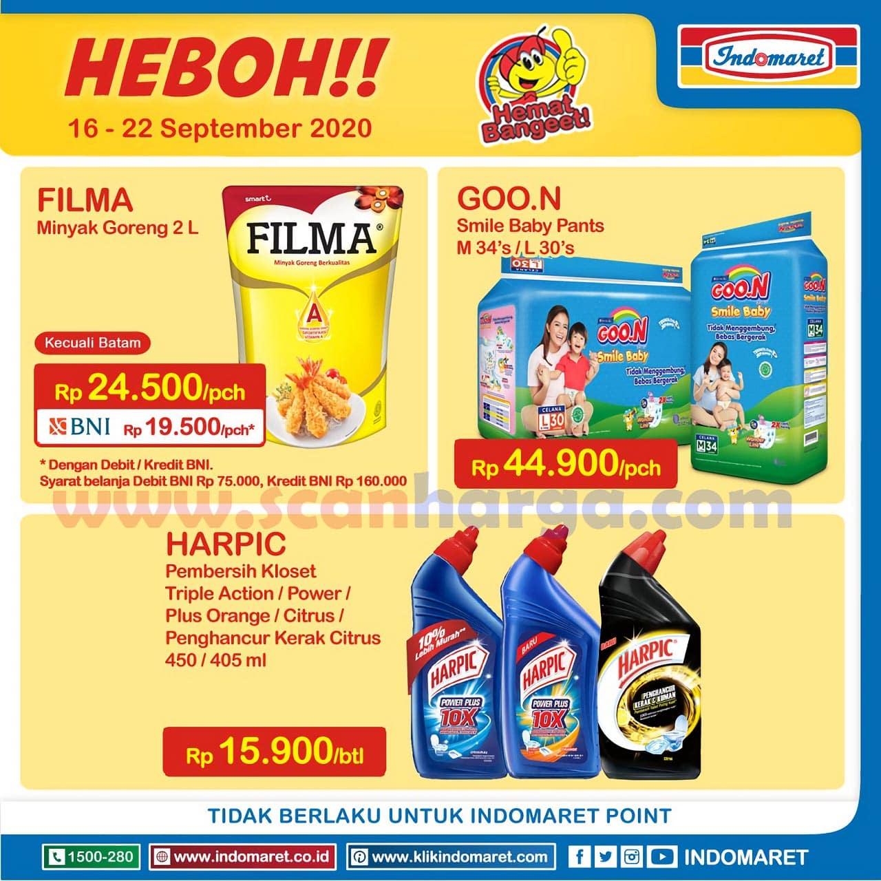 Katalog Promo Indomaret Heboh Minyak Murah 16 - 22 September 2020
