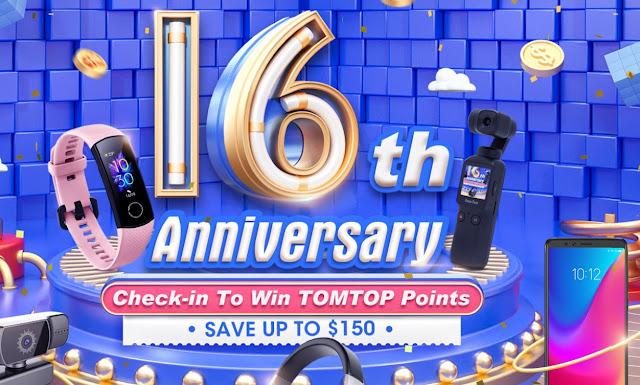 16º Aniversário da Tomtop - Promoção