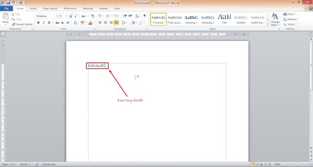 Tutorial Membuat Simbol Derajat di Microsoft Word