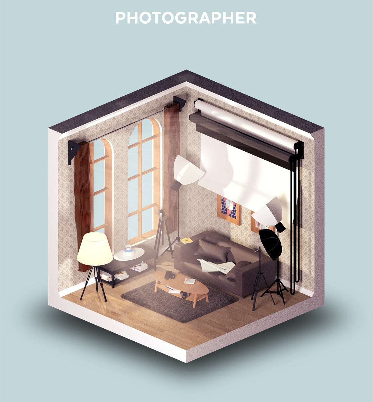 04-Room-of-a-Photographer-Petr-Kollarcik-Digital-Interiors-Design-and-Modern-Nomads-illustrations-www-designstack-co