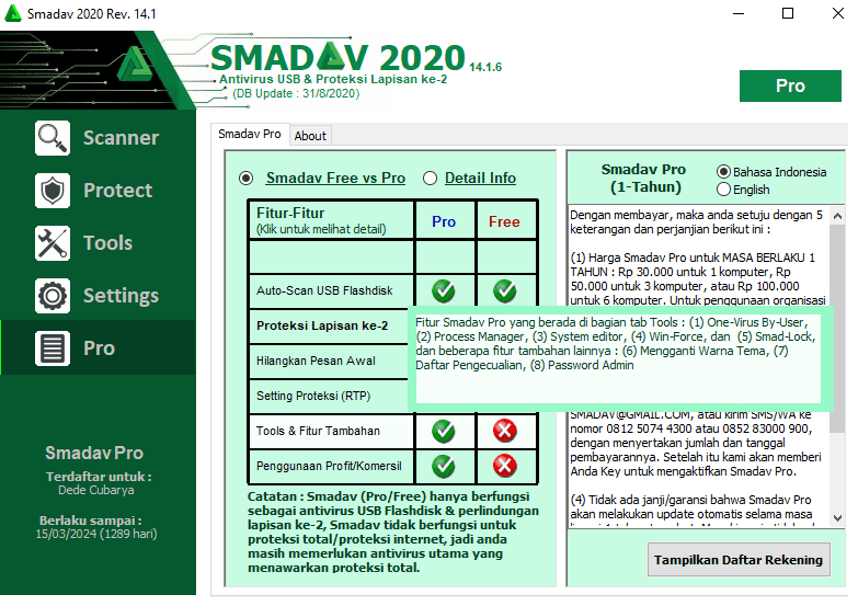Download Smadav Rev. 14.1.6 Full Free (Pro Key Terbaru 2020) - Cariduit-dot