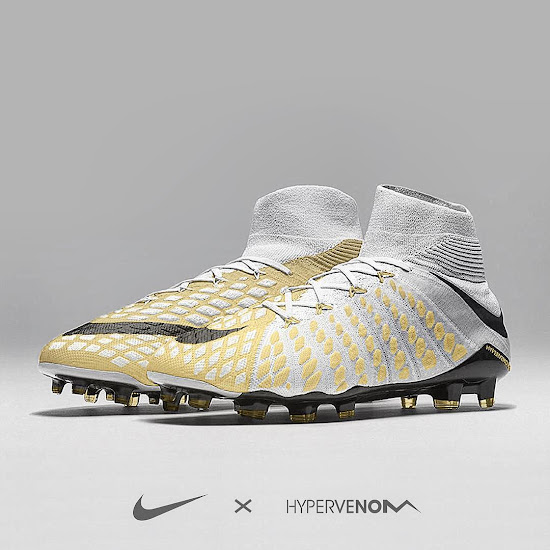new authentic sleek special section White / Gold Nike Hypervenom Phantom III Concept Boots ...