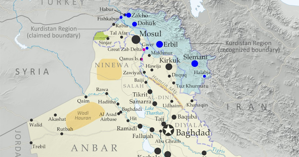 Iraq Control Map & Timeline - January 2020 - Political ...