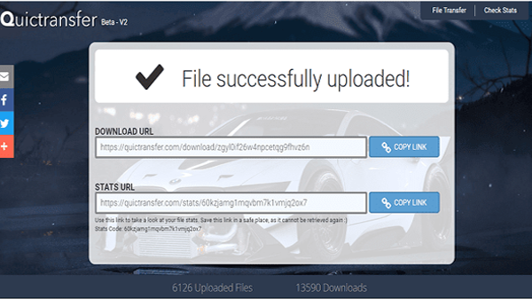 To you this wonderful site to send large files without reducing their size and without having to log on.