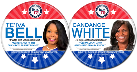 Te'iva Bell and Candance White are the Dem Runoff Candidates for Judge, 339th District Court