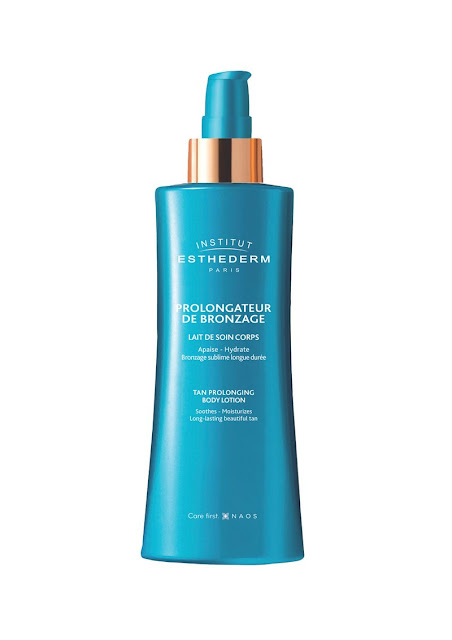 my midlife fashion, institut esthederm tan prolonging body lotion