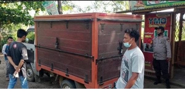Penemuan Mobil Box Jenis Pickup di Keruak Lombok Timur Hasil rampokan di Marong Lombok Tengah