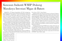 WMIP Industrial Estate Supports the Entry of Oil and Gas Investment in Batam