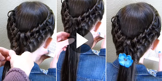 Learn - How To Create Ladder Braid Hairstyle, See Tutorial