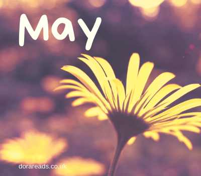 'May' graphic with yellow flower