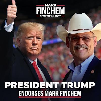 Mark Finchem endorsed by Former President Trump