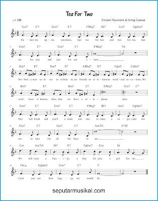 Tea for Two chords jazz standar