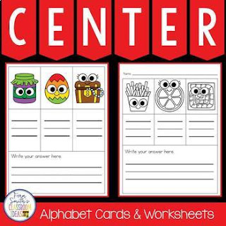 Alphabet Cards and Worksheets for Mystery CVC Word Fun Center