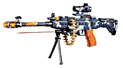 Army Style Toy Gun for Kids with Music