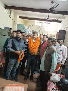 विद्युत मजदूर पंचायत उ0प्र0 के प्रांतीय अति0 महामंत्री निर्भय नारायण सिंह का हुआ भव्य स्वागत  | #NayaSaberaNetwork