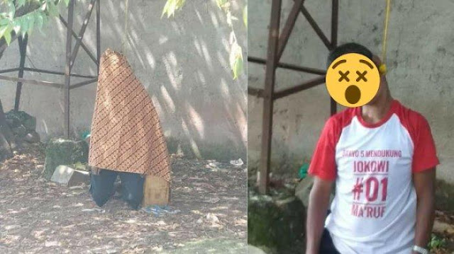 Innalillahi, Seorang Kakek Gantung Diri di Pohon Ceri Memakai Kaos Pendukung Jokowi