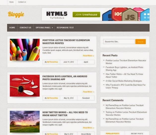 Bloggie theme