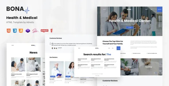 Best Health & Medical Premium HTML Template