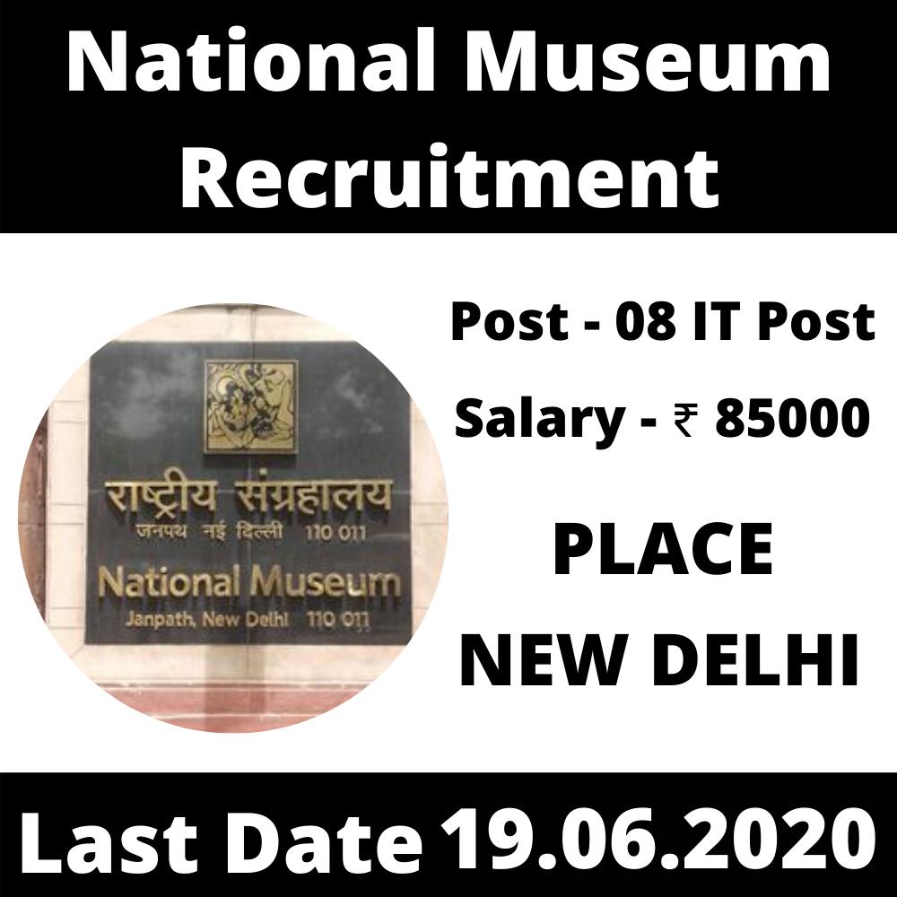 National Museum Recruitment 2020