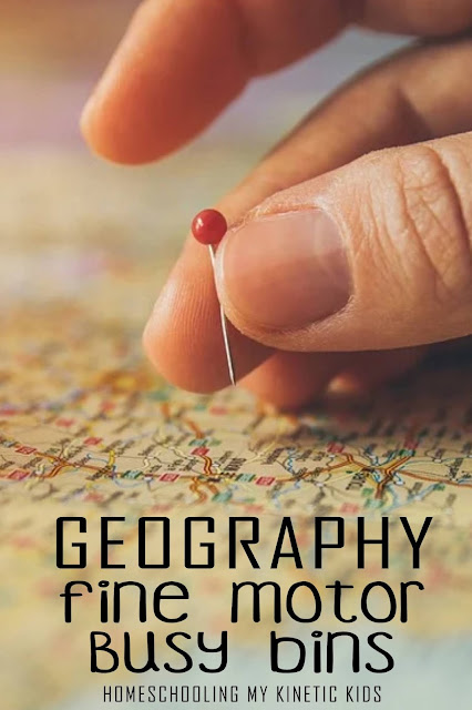 Help kids learn geography and work on their fine motor skills at the same time!