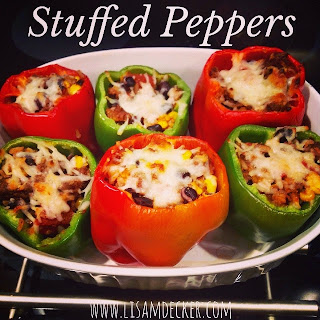 21 Day Fix Dinners, Clean Eating, Stuffed Peppers