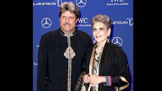 Kapil Dev With Wife