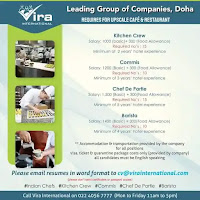 Upscale Cafe & Restaurant Jobs Vacancies Doha